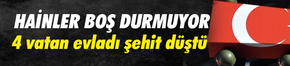 Bingöl, Hakkari ve Diyarbakır'dan acı haberler: 4 şehit