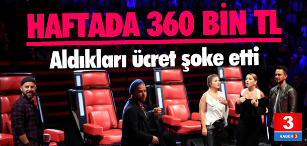 O Ses Türkiye jürisi kaç para alıyor ?