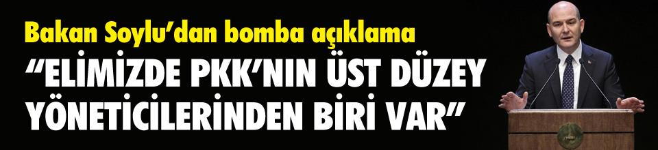 """""""Elimizde PKK'nın önemli düzeydeki yöneticisi var"""""""