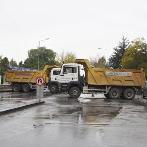 Anıtkabir'e belediye kamyonlu koruma