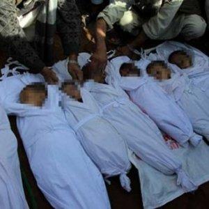Çoğu çocuk 30 sivil öldü