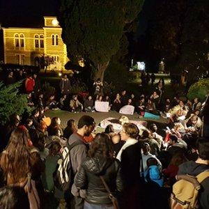 Boğaziçi Üniversitesi'nde öğrencilerden eylem