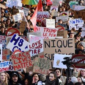 Trump karşıtı gösteriler Avrupa'ya sıçradı