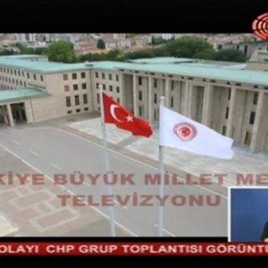 CHP Grup Toplantısı'nda Meclis TV ve ses krizi