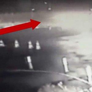 Erdal Tosun'un kaza anı kamerada