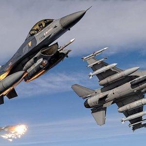 F-16'lar milli 'kit'le hedefe tam kilitleniyor