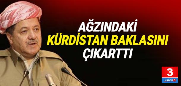 Ağzındaki Kürdistan baklasını çıkardı