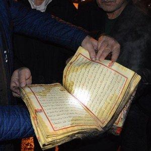 Yangında Kur'an-ı Kerim mucizesi