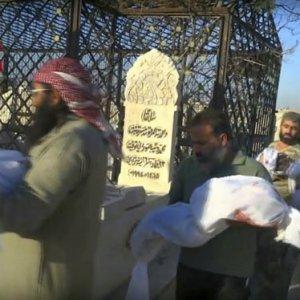 Halep'te mezar yeri bile kalmadı