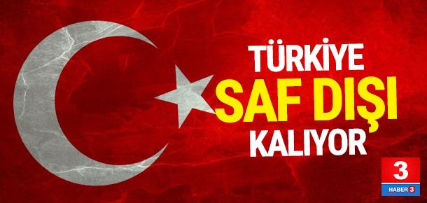 Türkiye devre dışı kaldı