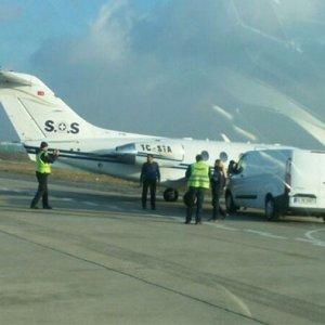 Atatürk Havalimanı apronunda korkutan kaza