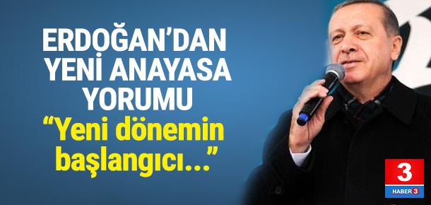 Erdoğan: Yeni dönem başlıyor