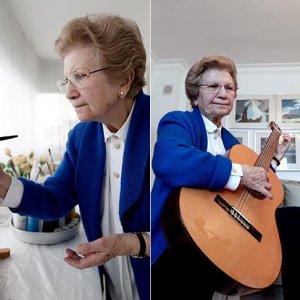 70'inden sonra resim, gitar ve İngilizce öğrendi