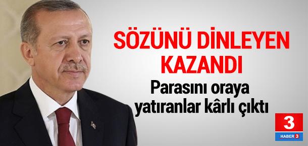Erdoğan'ın çağrısı, vatandaşın cebini doldurdu!