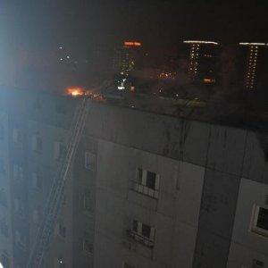 Belediye binasında yangın