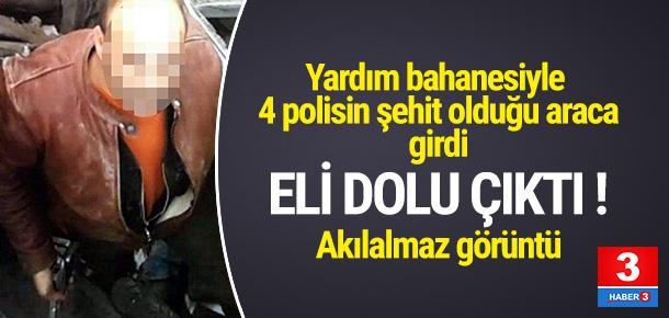 4 polisin şehit olduğu saldırıda, polisin silahını çaldı