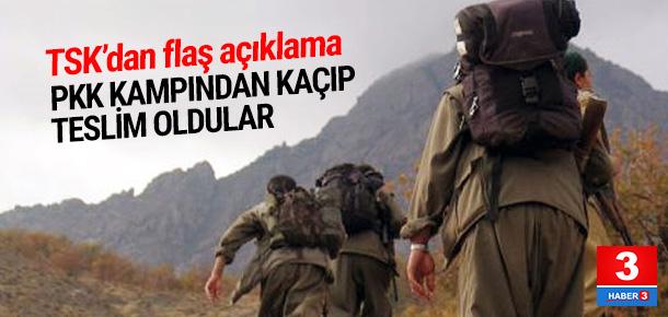 7 PKK'lı terörist teslim oldu