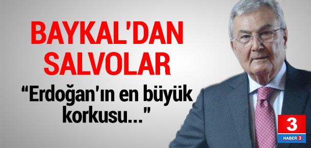 Deniz Baykal, Erdoğan'ın en büyük korkusunu açıkladı