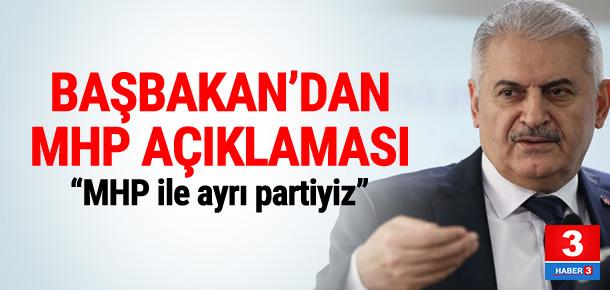 Başbakan Yıldırım'dan MHP açıklaması