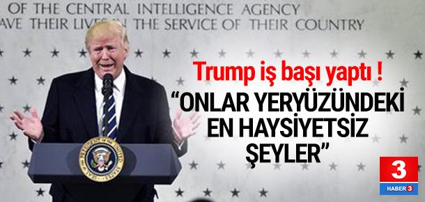 Trump: Onlar yeryüzündeki en haysiyetsiz şeyler