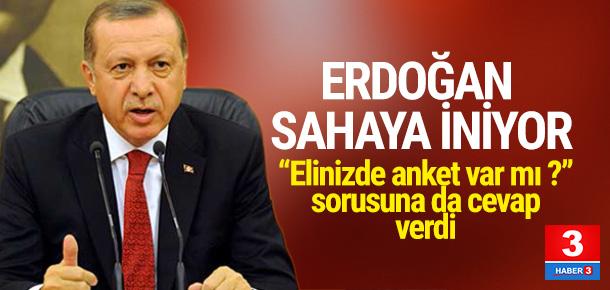 Erdoğan'dan referandum anketi yorumu