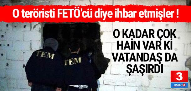 DHKP-C'li teröristi FETÖ'cü diye ihbar etmişler