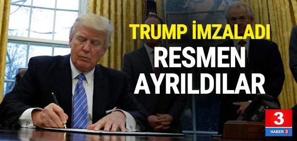 Trump imzaladı ! Resmen ortaklıktan ayrıldı