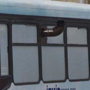Soğuğa karşı sobalı otobüs