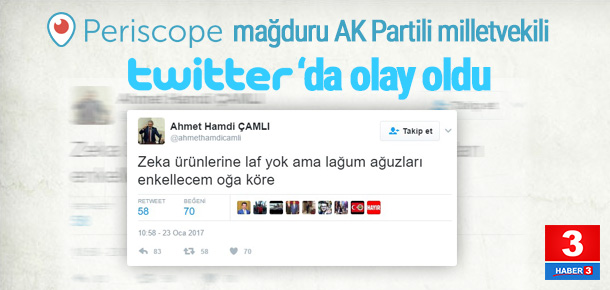 AK Partili vekilin Tweet'i olay oldu