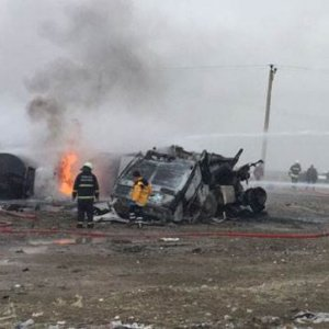 Tanker ile TIR çarpıştı: 2 kişi ölü