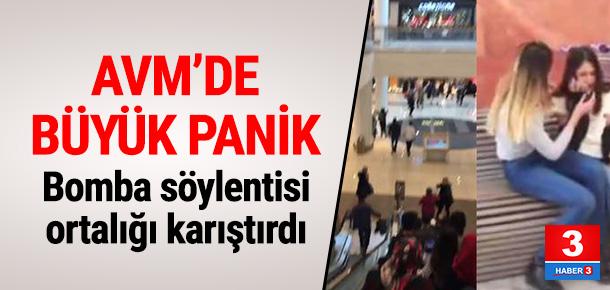Alışveriş merkezinde büyük panik
