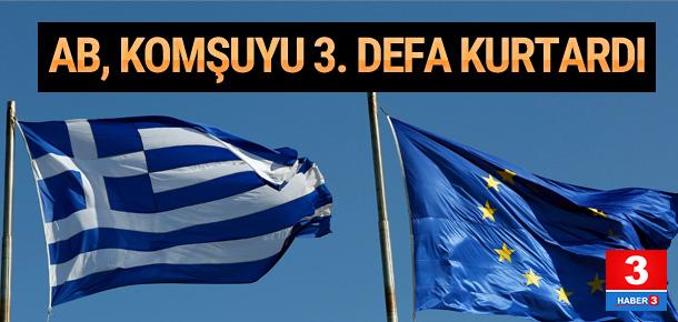 AB Yunanistan'ı 3. defa batmaktan kurtardı