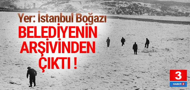 İstanbul'da eski kış manzaraları