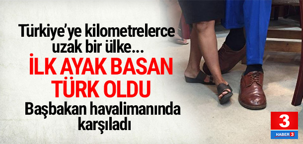 İşte Samua'ya ilk ayak basan Türk