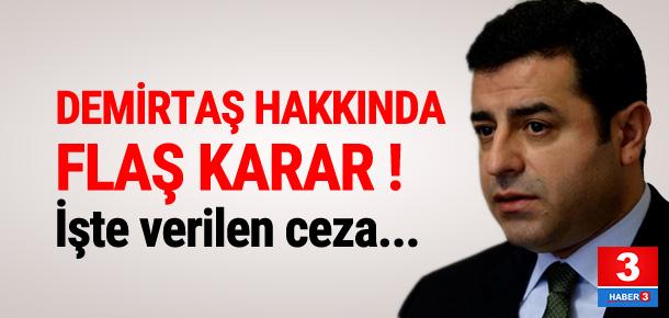 HDP EŞ GENEL BAŞKANI DEMİRTAŞ'A 5 AY HAPİS CEZASI