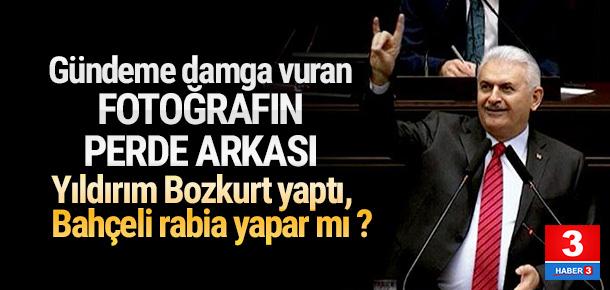 Başbakan Yıldırım'dan bozkurt işareti açıklaması