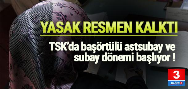 TSK'da başörtüsü yasağı resmen kalktı