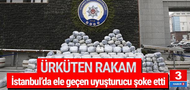 İstanbul'da 1 yılda ele geçen uyuşturucu miktarı şaşırttı