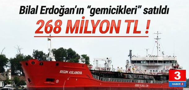 Bilal Erdoğan'ın gemileri satıldı