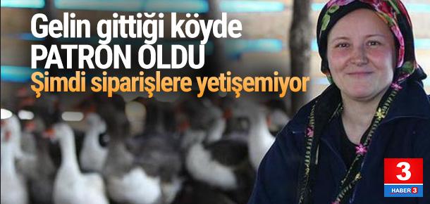 Gelin olarak gittiği köyde iş kurdu, siparişlere yetişemiyor
