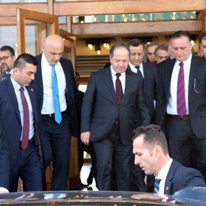 Erdoğan, Mesut Barzani'yi kabul etti