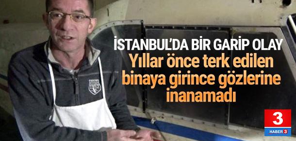 İstanbul'da esrarengiz olay ! Bodrum katta uçak bulundu