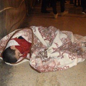 Taksim'de yürekleri sızlatan görüntü