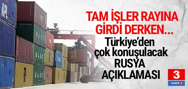 Türkiye'den çok konuşulacak Rusya açıklaması