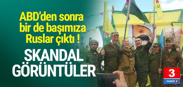 Rus askerleri, YPG paçavrasıyla poz verdi