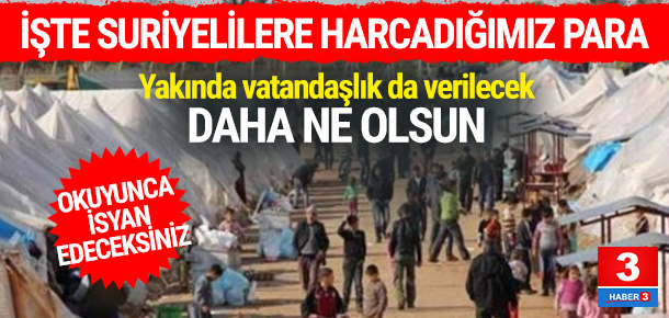Türkiye, 3 milyon Suriyeli için kaç para harcadı ?