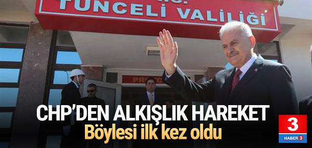 CHP'den bir ilk ! Başbakan'ı o karşıladı
