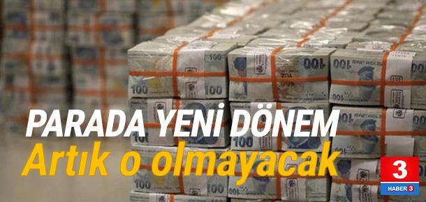 Türk lirasında yeni dönem başlıyor