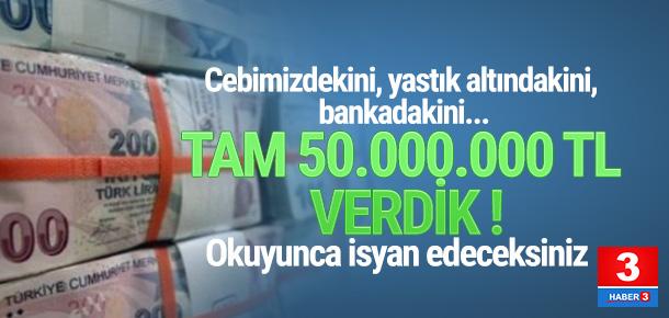 50 milyonluk vurgun