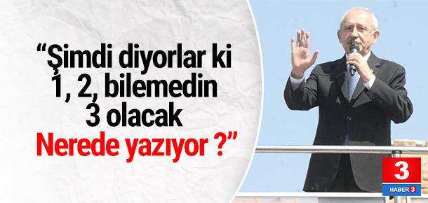 Kılıçdaroğlu'ndan ''başkan yardımcısı'' tepkisi